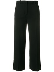 Versace Cropped Tailored Trousers Black