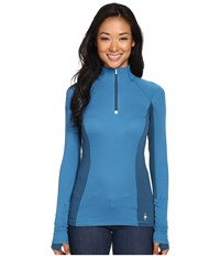 Smartwool Phd Light Zip Top Glacial Blue Women's Long Sleeve Pullover