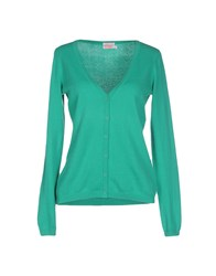 Sun 68 Knitwear Cardigans Women Emerald Green