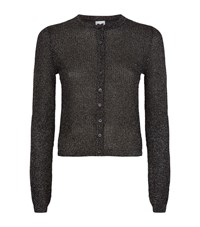 M Missoni Cropped Lurex Mesh Cardigan Female Grey