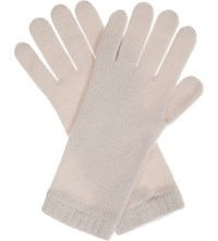 Johnstons Knitted Cashmere Gloves Cameo