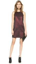4.Collective Cobra Lurex Dress Red Multi