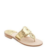 Jack Rogers Women's Whipstitched Flip Flop Gold