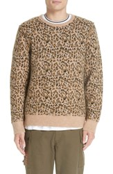 Ovadia And Sons Leopard Jacquard Sweater