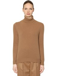 Max Mara Turtleneck Wool And Cashmere Blend Sweater Camel