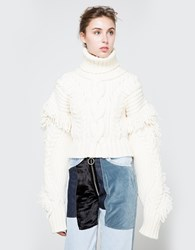 Off White Cable Knit Sweater Off White