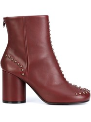 Maison Martin Margiela Studded Ankle Boots Red