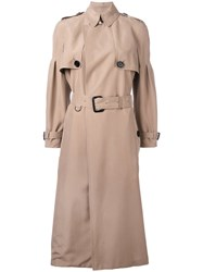 Burberry Belted Trench Coat Nude Neutrals