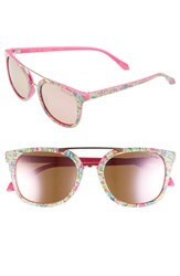 Lilly Pulitzer Emilia 53Mm Polarized Sunglasses Shady Lady Pink Shady Lady Pink