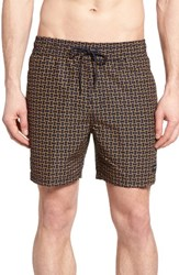 Jack Spade Men's Abstract Tile Swim Trunks