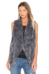 Bb Dakota Jack By Cordova Faux Fur Vest Charcoal