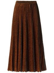 Gig Midi Knitted Skirt Women Polyester P Brown