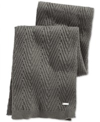 Ryan Seacrest Distinction Ryan Seacrest Herringbone Stitch Scarf Only At Macy's Heather Grey
