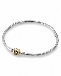 Pandora Design Pandora Bracelet Sterling Silver With 14K Gold Signature Clasp Moments Collection