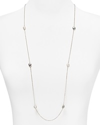 Nancy B Sterling Silver And Freshwater Pearl Station Necklace 36
