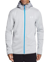 Under Armour Full Zip Hooded Sweat Jacket Steel Stealth Gray Silver