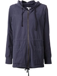 James Perse Hooded Military Jacket Grey