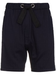 Lot 78 Lot78 Cotton Shorts With Eyelet Detail Cotton Blue
