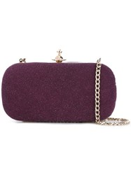Vivienne Westwood Glitter Effect Cross Body Bag Pink Purple