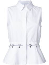 Alexander Wang Hook And Eye Peplum Shirt White