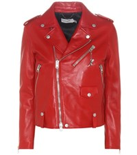 Coach Leather Jacket Red