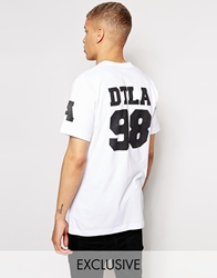 American Apparel Crew Neck T Shirt With Varsity Print Whitedtla