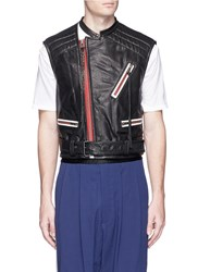 Haider Ackermann Belted Leather Waistcoat Black