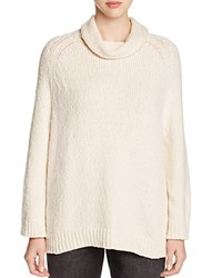 Eileen Fisher Cowl Neck Organic Cotton Sweater Soft White