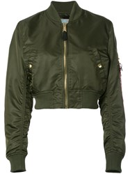 Alpha Industries Cropped Bomber Jacket Green