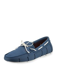 Swims Mesh And Rubber Braided Lace Boat Shoe Gray