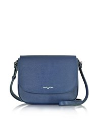 Lancaster Paris Adele Saffiano Leather Crossbody Bag Blue