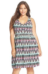 Plus Size Women's Tart 'Felisha' Print Jersey Cross Back Dress