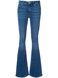 Mih Jeans Flared Women Acetate 27 Blue