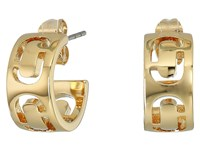 Marc Jacobs Icon Cut Out Small Hoop Earrings Gold