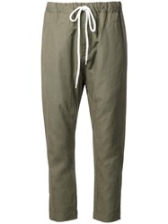 Bassike Relaxed Fit Trousers Green