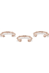 Arme De L'amour Set Of Three Rose Gold Plated Rings