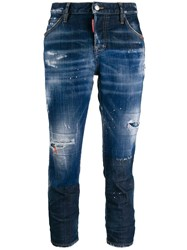 Dsquared2 Distressed Cropped Faded Jeans 60