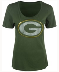 47 Brand '47 Women's Green Bay Packers Lux Sequins Scoop T Shirt