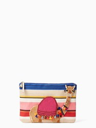 Kate Spade On Purpose Embroidered Camel Clutch Multi