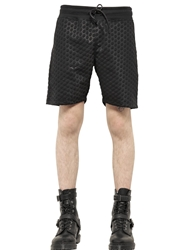 Blood Brother Polka Dot Embossed Bonded Jersey Shorts Black