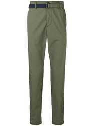 Sacai Belted Trousers Green