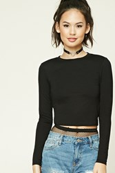 Forever 21 Cropped Crew Neck Tee