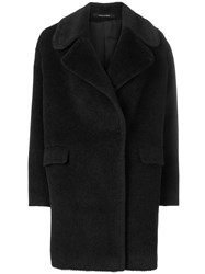 Tagliatore Double Breasted Fitted Coat Black