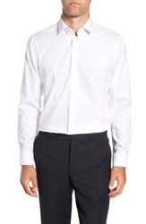 Calibrate Big And Tall Trim Fit Stretch Solid Dress Shirt White