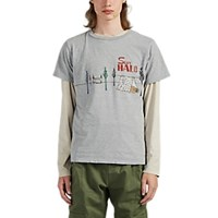 Remi Relief Sun Halo Cotton T Shirt Light Gray