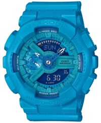 G Shock Women's Analog Digital S Series Blue Resin Strap Watch 46X49mm Gmas110vc 2A