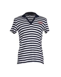 Moschino Swim Topwear Polo Shirts Men Dark Blue