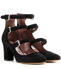 Tabitha Simmons Ginger Suede Pumps Black