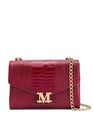 Max Mara Croco Effect Logo Plaque Shoulder Bag 60