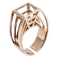 Co.Ro.Jewels Co. Ro. Jewels Perspective Ring Gold Plated Bronze
